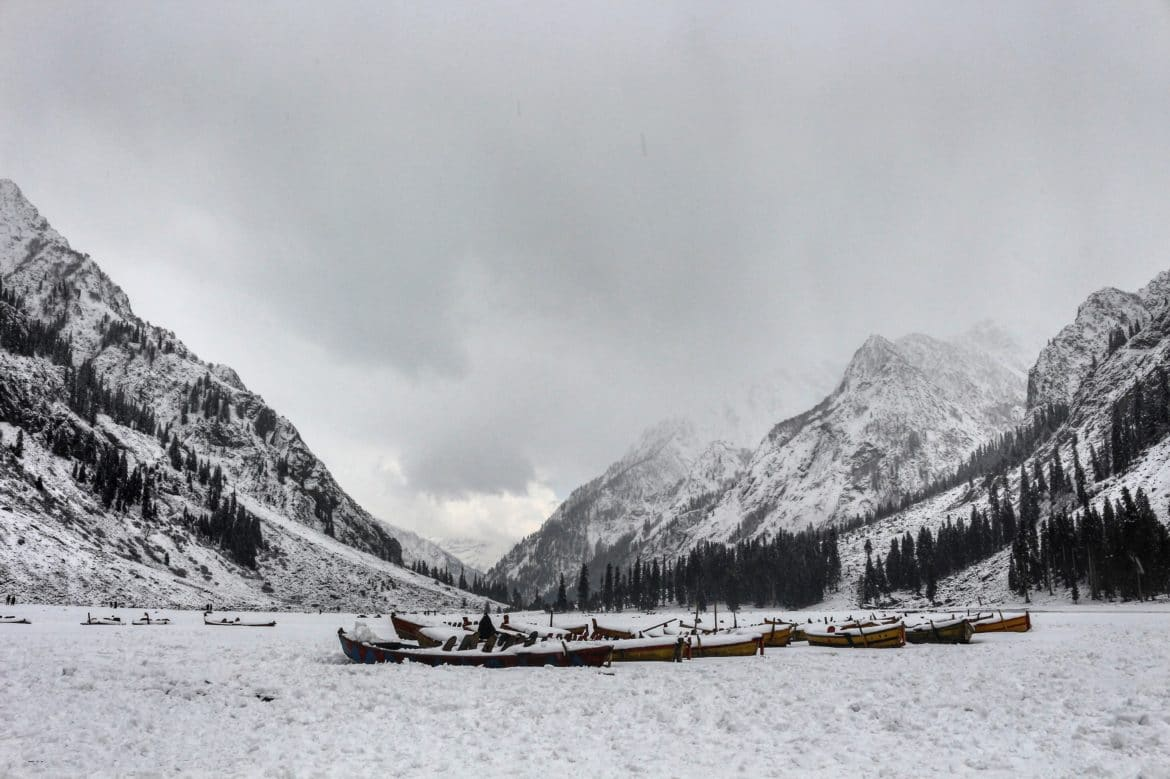 Frozen Mahodand Lake Swat